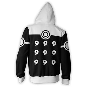 Naruto Black 6 PATHS ZIP UP Hoodie - Anime Hero Shop