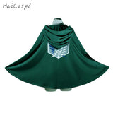 Attack On Titan Costume Green Cloak Hoodie Scout Legion Coat