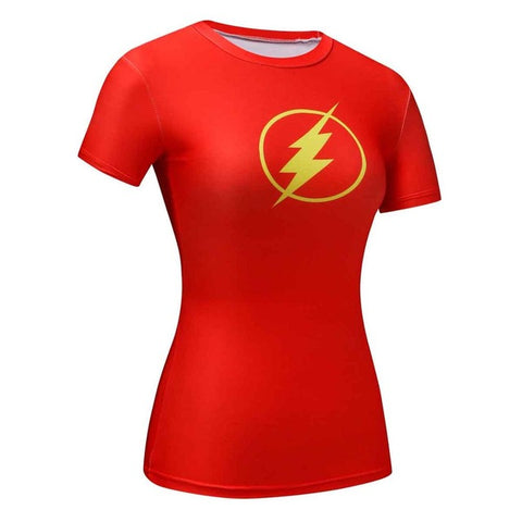 Image of Women t-shirt Superheroes - T-shirt girl Tight tees fitness