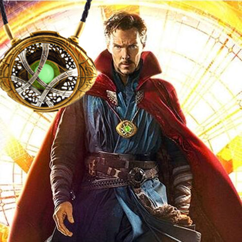 Image of Doctor Strange Pendant Eye of Agamotto GLOW IN THE DARK Necklace 7 CM - Anime Hero Shop