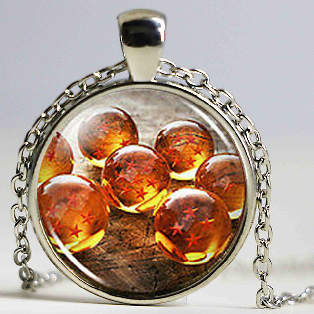 DBZ Cabochon Mens Handmade Necklace brass Pendant - Anime Hero Shop