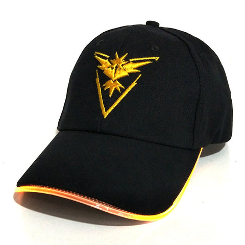 Image of 2018 New LED Light Pokemon Go Cap Hat for Women Mens Fitted Hats Glow In The Dark - Anime Hero Shop