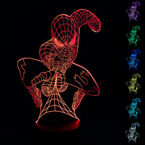 Spider-Man 3D Table Lamp (7 colors) 4 Styles