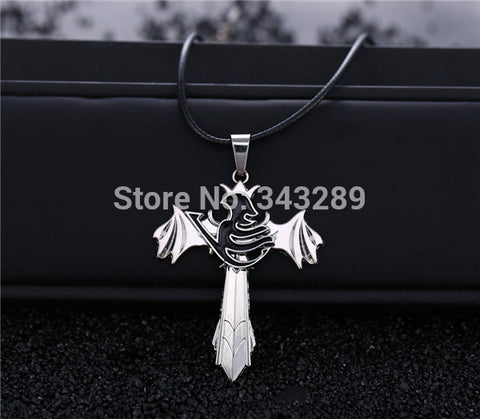 Image of Fairy Tail Necklace The choker wings rotatable - Anime Hero Shop