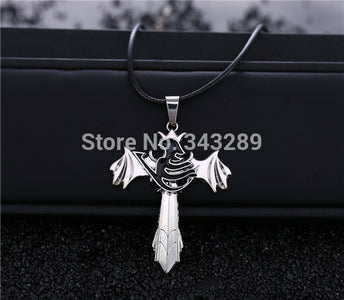 Fairy Tail Necklace The choker wings rotatable - Anime Hero Shop