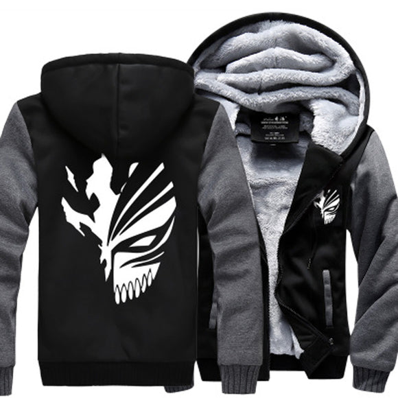 Sweatshirt Bleach Kurosaki Ichigo hoodies 2017 spring winter Zip Up hoody