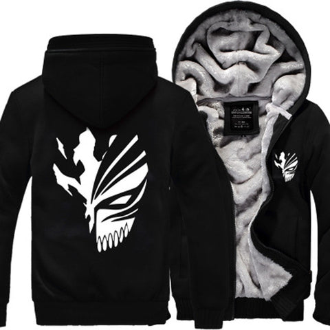 Image of Sweatshirt Bleach Kurosaki Ichigo hoodies 2017 spring winter Zip Up hoody - Anime Hero Shop