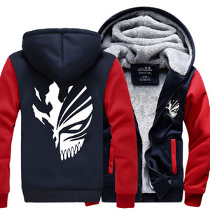 Sweatshirt Bleach Kurosaki Ichigo hoodies 2017 spring winter Zip Up hoody - Anime Hero Shop