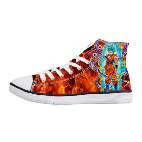 Image of Dragon Ball Z Print Mens Canvas Shoes 2