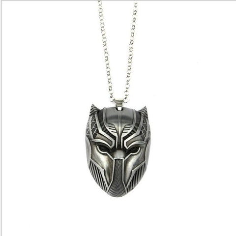 Image of Black Panther Metal Keychains Wakanda King T'Challa Black Panther Accessories - Anime Hero Shop