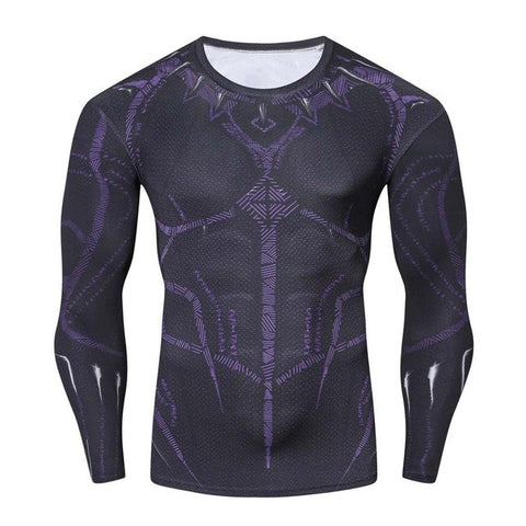 Image of Black Panther Set Compression ( Long Sleeve ) - Anime Hero Shop