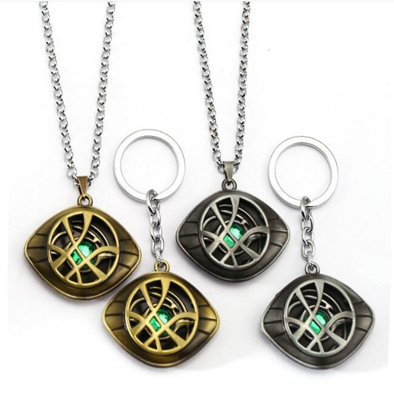 Doctor Strange Necklace Eye of Agamotto Glow in the Dark