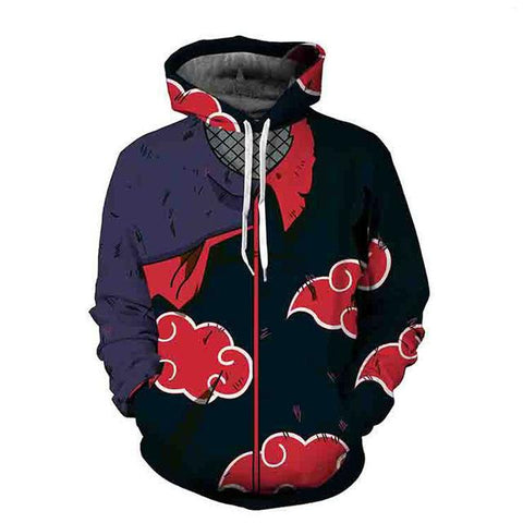 Akatsuki Red Cloud Hoodies - Anime Hero Shop