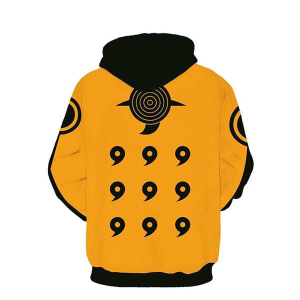Naruto Six Paths Orange Hokage Zip Up Hoodie - Anime Hero Shop