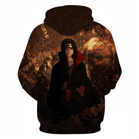 Image of Uchiha Itachi Brown Unisex Hoodie - Anime Hero Shop