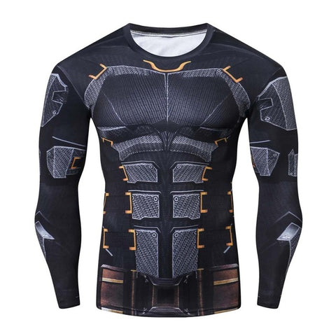 Image of Justice League Batman Set Compression Shirts ( Long Sleeve ) - Anime Hero Shop