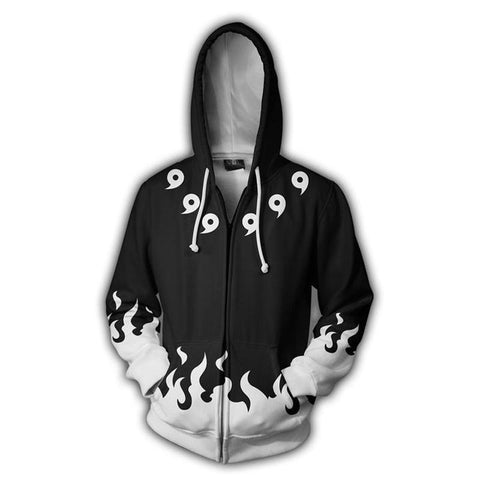 Image of Naruto 6 Paths 3D Print White Hoodie - Anime Hero Shop
