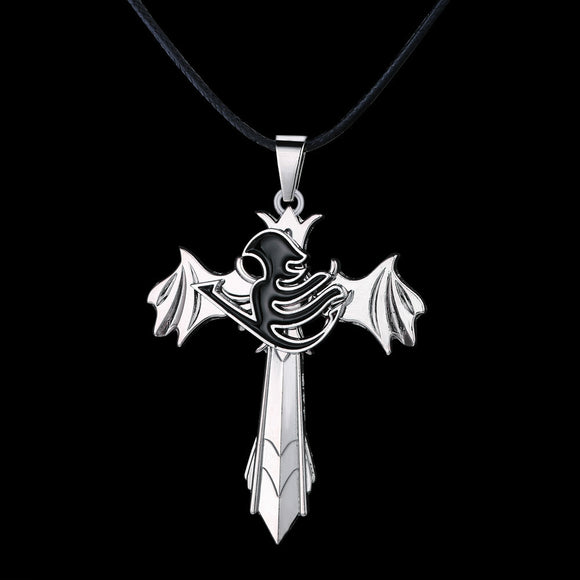 Fairy Tail Necklace The choker wings rotatable