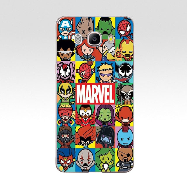 Marvel Hard  Case Cover for Samsung Note 3 4 5 8 for Galaxy a3 a5 2017 j3 j5 j7 2015 2016 2017