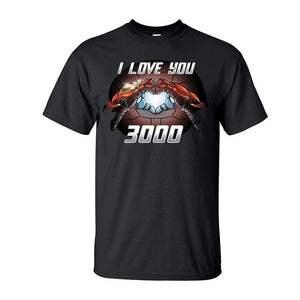 Marvel Endgame Tony Stark Iron Man I Love You 3000 Cotton T-Shirt - Anime Hero Shop