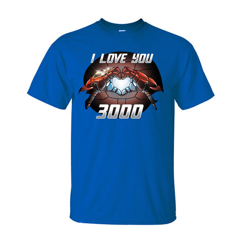 Image of Marvel Endgame Tony Stark Iron Man I Love You 3000 Cotton T-Shirt - Anime Hero Shop
