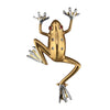 14K Yellow and White Gold Frog Brooch With Diamonds and Rubies