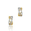 14K Two tone diamond earrings