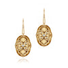 14K Yellow gold earrings with citrine and diamonds