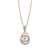 14K TWO TONE DIAMOND CIRCLE NECKLACE