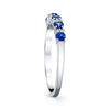 14K White Gold Diamond And Sapphire Wedding/Anniversary Band