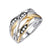 14K WHITE AND YELLOW GOLD FASHION DIAMOND RING
