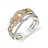 14K Two Tone Chain Link Ring