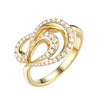 14K Yellow Gold Fashion Diamond Ring