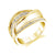 14K YELLOW GOLD FASHION DIAMOND BYPASS RING