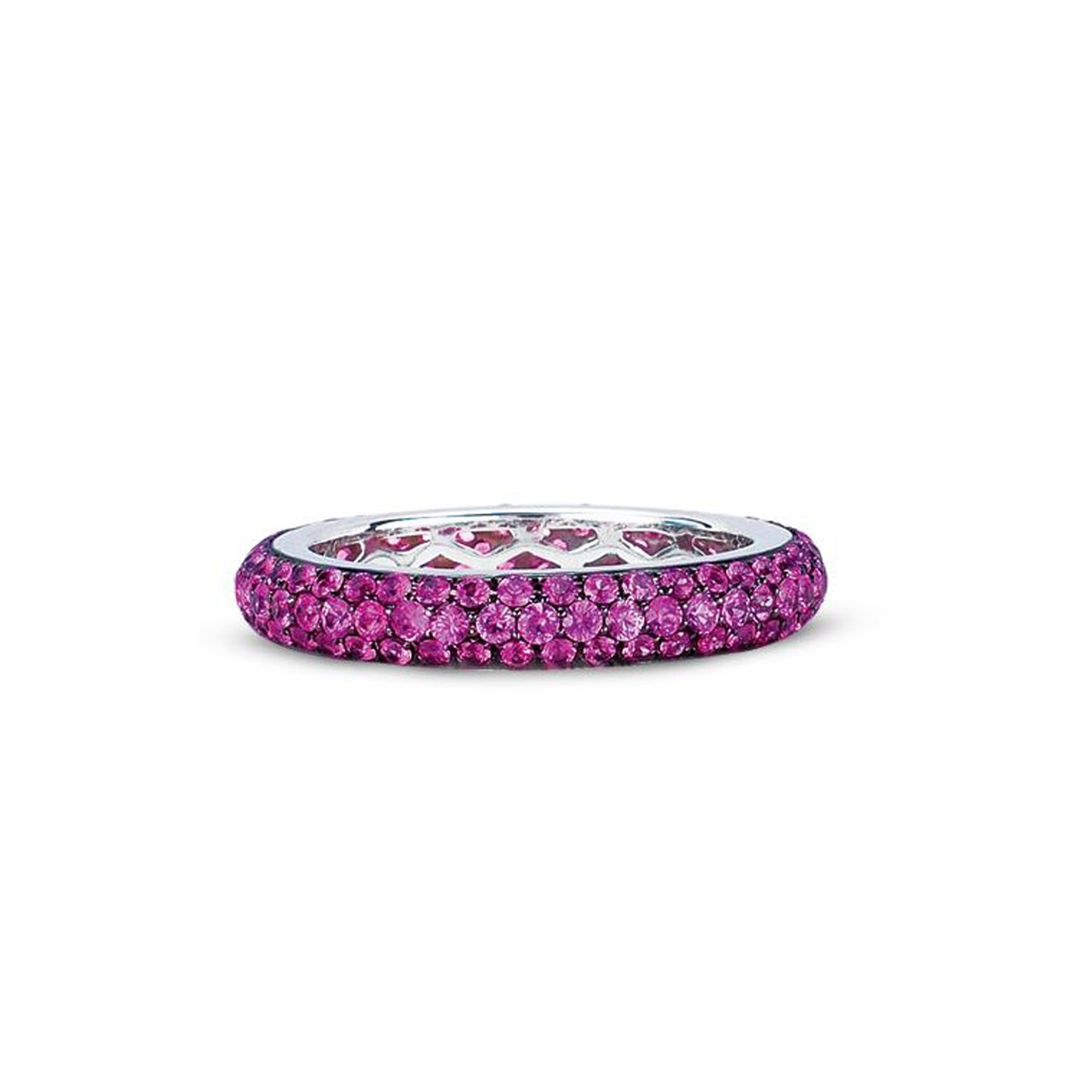 in bands gold diamonds eternity sapphire band rose pink with tw