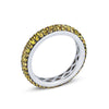 18K White Gold Eternity Band With Yellow Sapphires