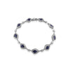 18K White gold bracelet with diamonds and blue sapphire