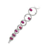 18K White Gold Diamond And Tourmaline Circle Style Bracelet