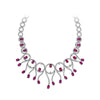 18K Diamond And Tourmaline Necklace