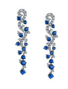 18K Diamond And Sapphire Earrings