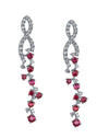 18K Diamond And Ruby Earrings