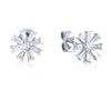 18K WHITE GOLD STUD DIAMOND BAGUETTE EARRINGS