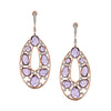 18K Rose Gold Diamond And Amethyst Dangle Earrings