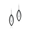 18K White gold earrings with white and black diamonds