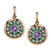 18K Rose Gold Diamond And Quartz Earrings