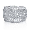 18K White Gold Diamond Filigree Bangle