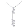 18K White Gold Dangle Necklace With Diamonds