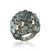 18K White gold ring with calcite and diamonds