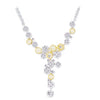 18K Two Tone Diamond Necklace