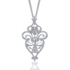 18K White Gold Diamond Fashion Necklace